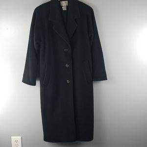 Jaqueline Ferrar 100% black wool coat size 4